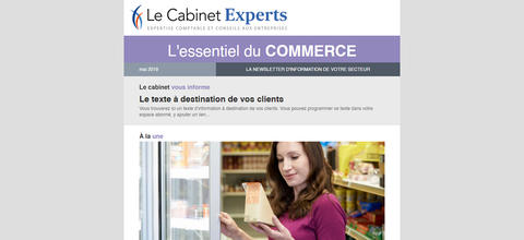 Newsletter sectorielle - Commerce